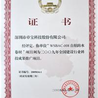 项目推广证书